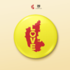 BD00007 – LOVE Karnataka Map Badge