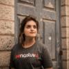 T00020-Brand Bengaluru English-Dark-Grey-Melange-T-shirt-1