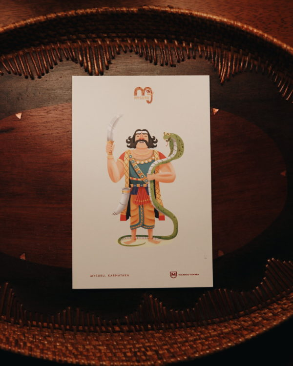 Mahishasura Post Card