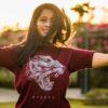 T000027 – Mysuru Leopard Maroon T-shirt-1