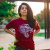 T000027 – Mysuru Leopard Maroon T-shirt-2